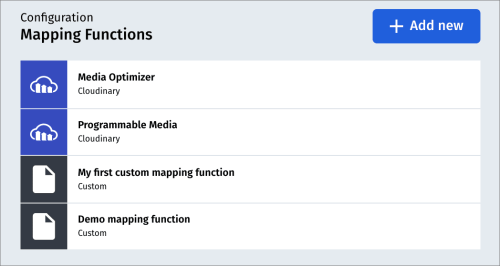 Mapping functions